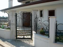 recinzione, ferro battuto, recinzione ferro